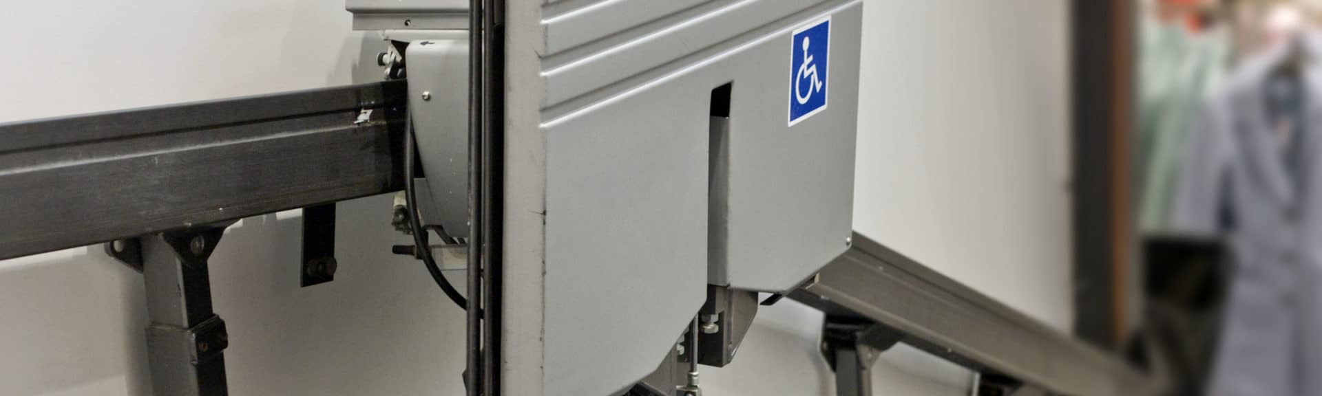 Disabled Logo on Stair Lift